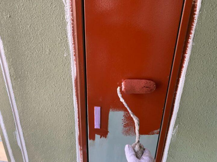 付帯部 下塗り作業