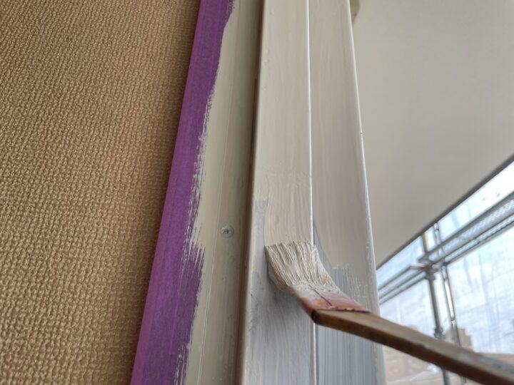 付帯部 塗布作業